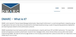 Screenshot Website DMARC