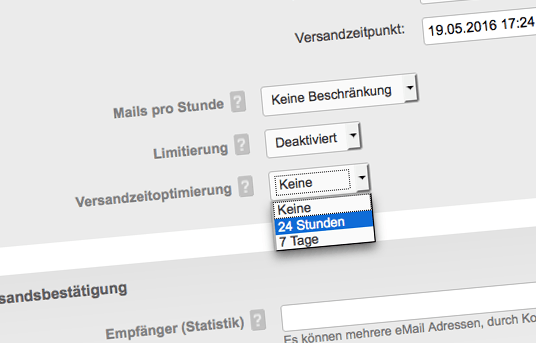 Versandzeitoptimierung in der Marketing Automation Software