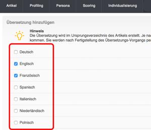 DeepL Integration für Textübersetzung