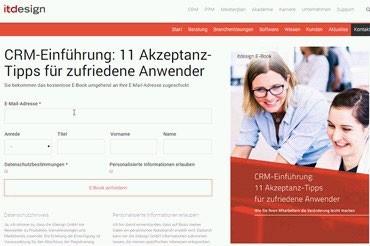 Beispielbild aus Nurture-Kampagne (Quelle: itdesign GmbH)