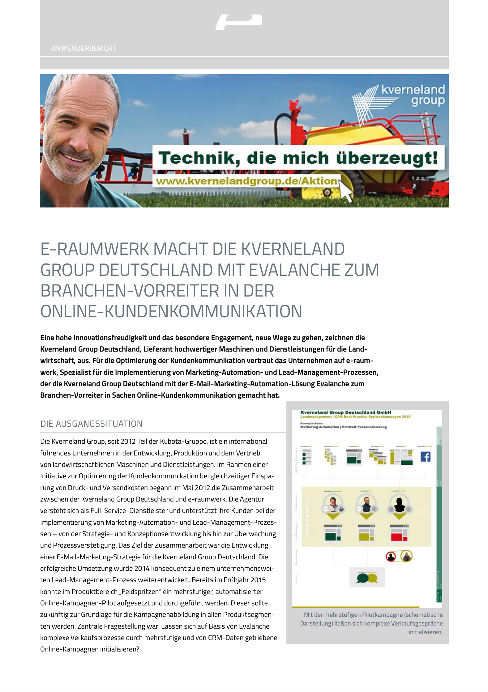 Marketing Automation Software Evalanche im Einsatz bei KVERNELAND