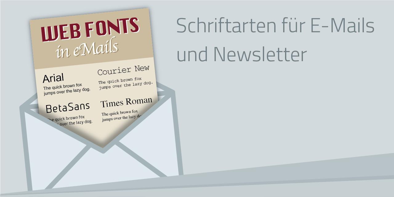 Die besten Schriftarten für Emails und Newsletter
