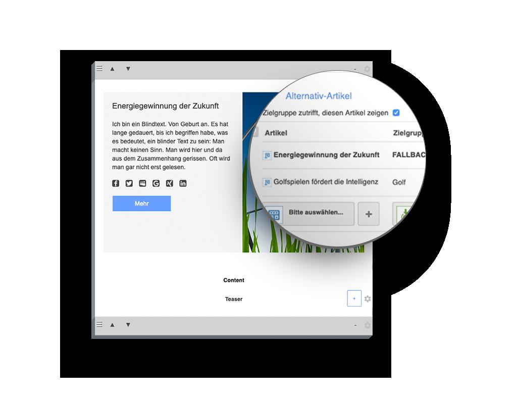 PowerSet Feature: Personalisierung