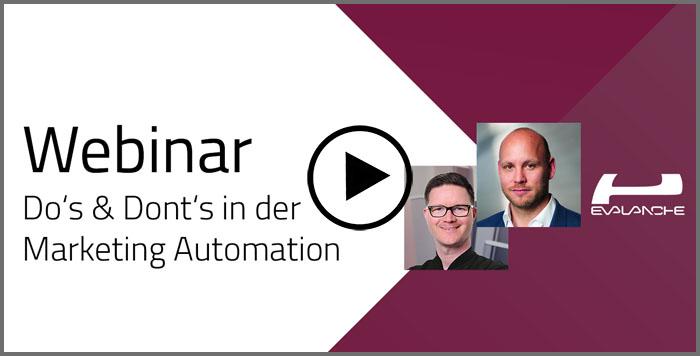 Evalanche Webinar Dos und Don'ts in der Marketing Automation