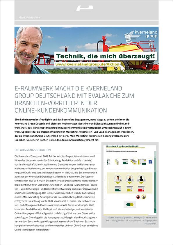 Marketing Automation Software Evalanche im Einsatz bei KVERNELAND